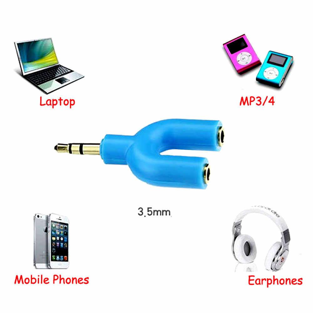 Malloom zestaw słuchawkowy dla graczy Gamer zestaw adapterów U/Y kształt 3.5mm rozdzielacz Y do Audio bezprzewodowy głośnomówiący słuchawki do gier i mikrofon
