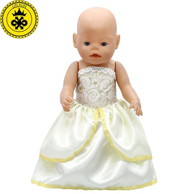 baby born puppe kleidung gelb belle prinzessin kleid fit 43 cm baby geboren zapf puppenkleidung. Black Bedroom Furniture Sets. Home Design Ideas