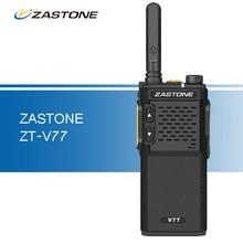 ZT-V77 ZASTONE Walkie Talkie UHF 400-470 MHz Delgado 1500 mAh 2 W Walkie Talkies $ Number Vías de Radio de Jamón Portátil Communicator Transceptor