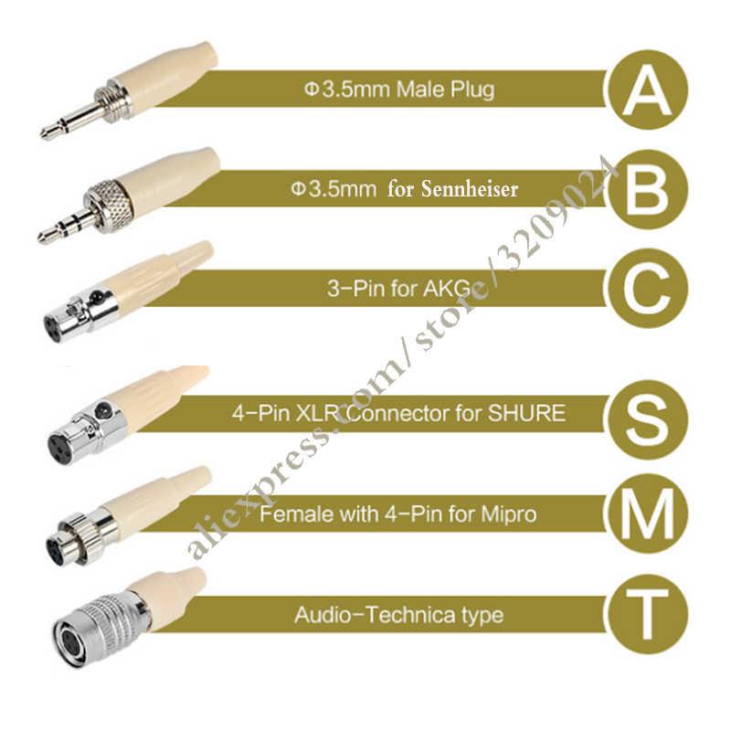 Кожи Ушные крючки висит микрофон гарнитуры для Sennheiser EW100 EW300 EW500 G1 G2 G3 Saramonic Беспроводной поясная рация