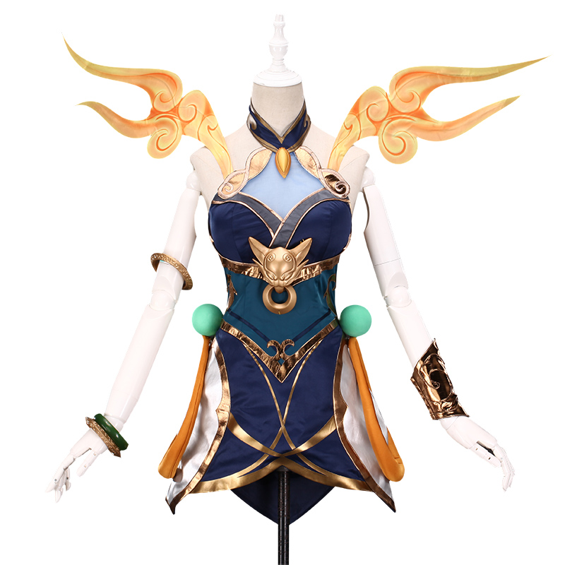 LOL New Skin Sexy LUNAR EMPRESS LUX Cosplay Costume Dress With Accessorie Women Luxanna Crownguard The Lady Of Luminosity Outfit