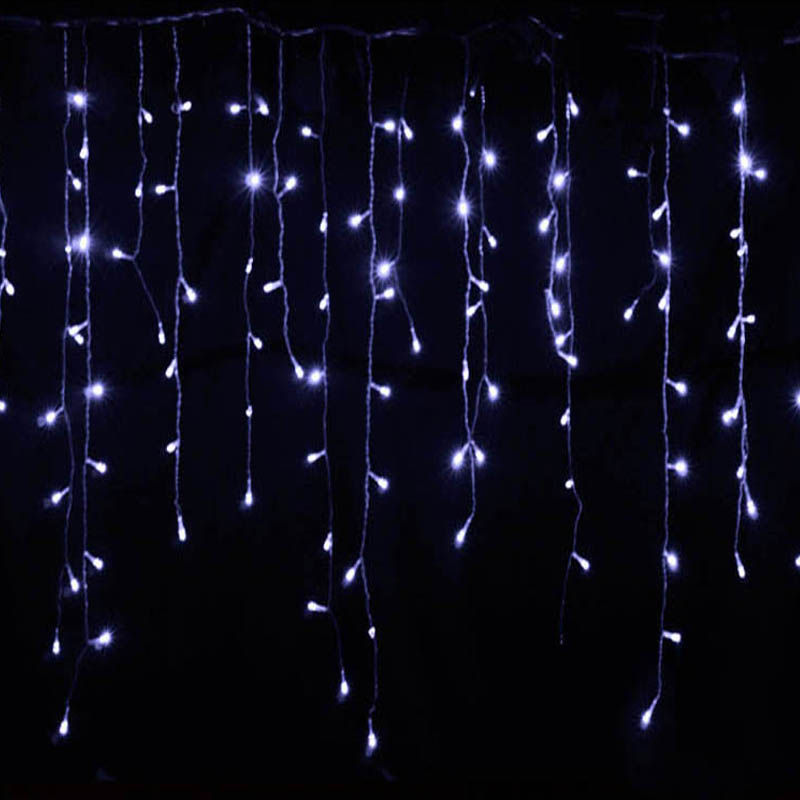 Image 3 - christmas lights outdoor decoration 5 meter droop 0.4 0.6m led curtain icicle string lights new year wedding party garland light-in LED String from Lights & Lighting on