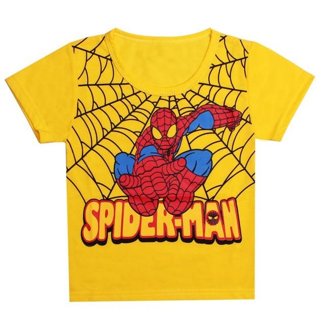Brand t shirt Kids Boys Baby Girls tees Spiderman Hero T-shirt short Sleeve Tops cotton children Clothes kids Clothing tops