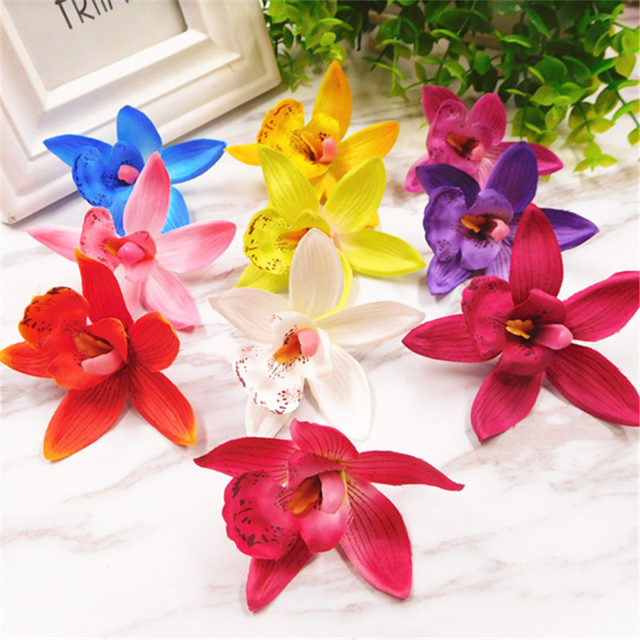 Aliexpress.com : Buy 10pcs/(7.5cm/a) artificial silk orchid flower ...