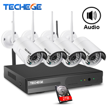 Techege 4CH 1080P NVR Kit 1080P WIFI IP Camera Audio 2.0MP Wireless kit WiFi Camera CCTV System Email Alert CCTV camera system