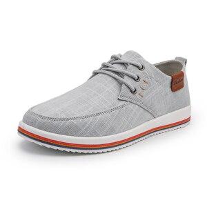 Image 3 - Классические Zapatillas; Новое поступление; сезон весна лето; удобная повседневная обувь; Мужская парусиновая обувь для мужчин; дышащая обувь на плоской подошве со шнуровкой