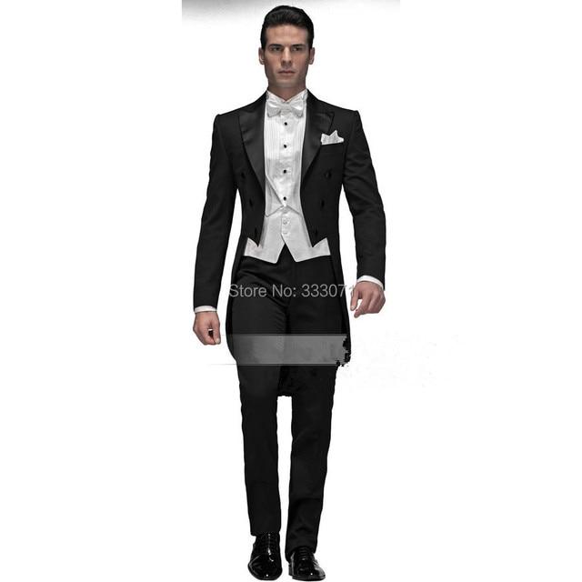 Custom Made High Quality Men Suits Formal Groom Tuxedo 4 pieces ...