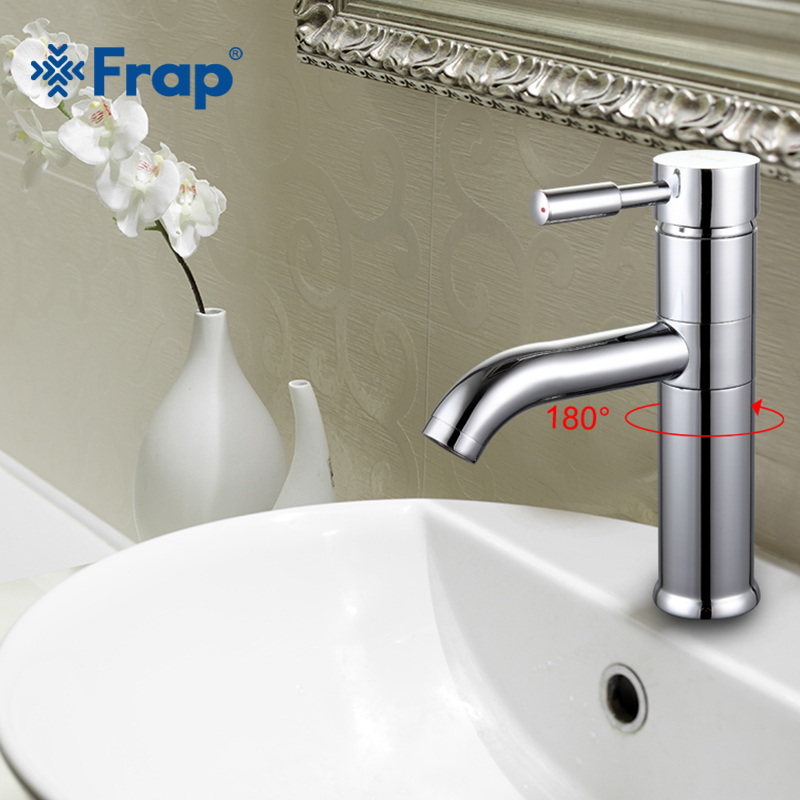 Frap Bathroom Basin Faucet Vessel Sink Water Tap Solid Brass 360 Rotation Chrome Finished F1052