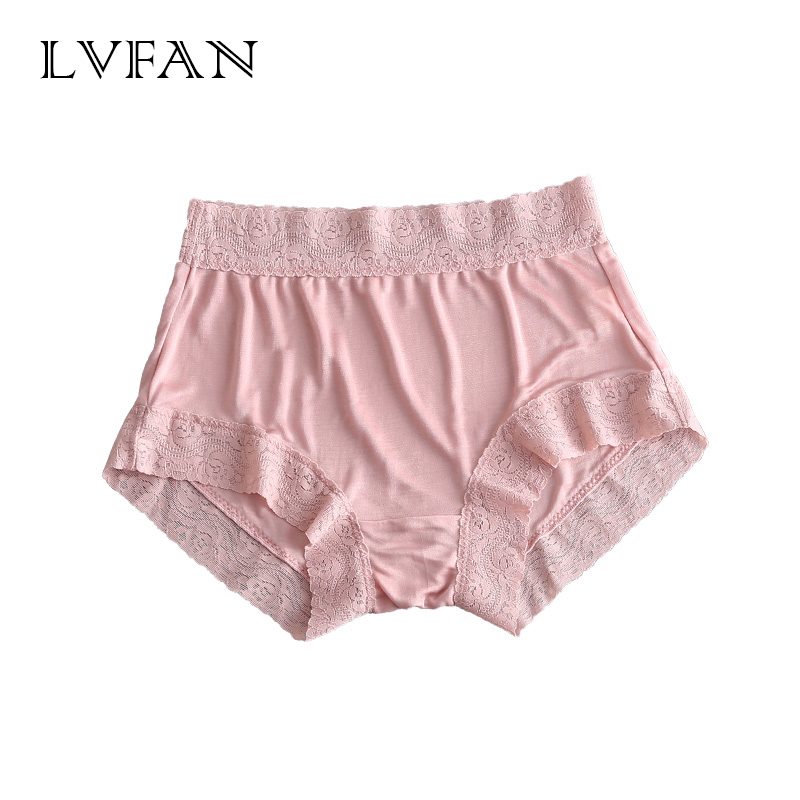 Image 5 - 3 pcs/lot women Real Silk Lace Sexy Seamless Underwear Women lingerie Boy short Romantic Mid rise Flat Angle Pants LVFAN GT 032womens panties   -