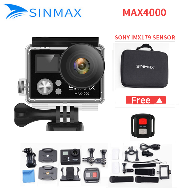 Ultra HD 4K wifi action camera 2.0 Helmet Camera Sports DV kamera 1080p 60fps mini camcorder with camera bag vs EKEN H9R sj cam