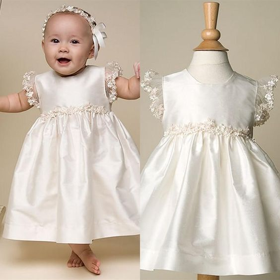 2016 New Baby Infant White/Ivory Baptism Gown Christening Dress Lace Floor Length Gown 0-24 Month With Headband бриджи balatt бриджи