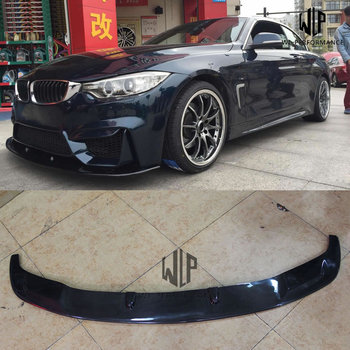 F32 High quality Carbon fiber Front bumper Lip diffuser splitter For BMW 4 series F32 F33 F36 435i with M3 M4 bumper 2014-2015 image