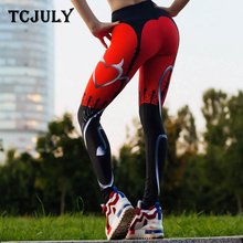 TCJULY Trending Products 2019 Gothic High Waist Push Up Leggings Sports Wear For