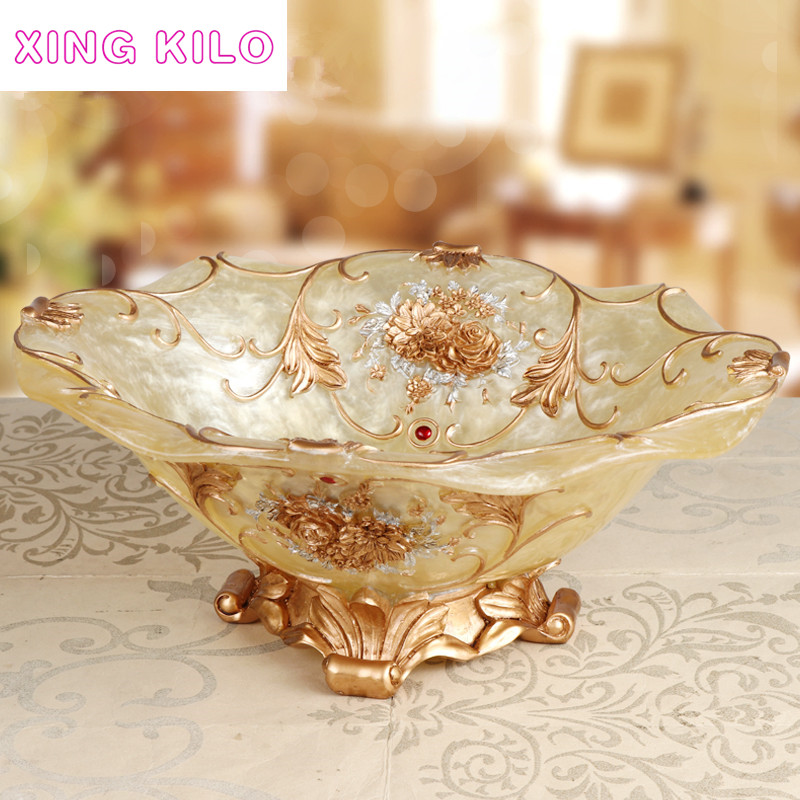 XING KILO  European fruit plate luxury high-grade resin dried modern large living room decorative ornaments