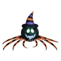 Надувные Хэллоуин Airblown Паук носить оранжевый в полоску Top Hat Сделано в Китае