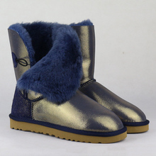 Hot Sale Women Boots Genuine Sheepskin Leather Snow Boots 100% Natural Fur Snow Boots Warm Wool Waterproof Winter Boots