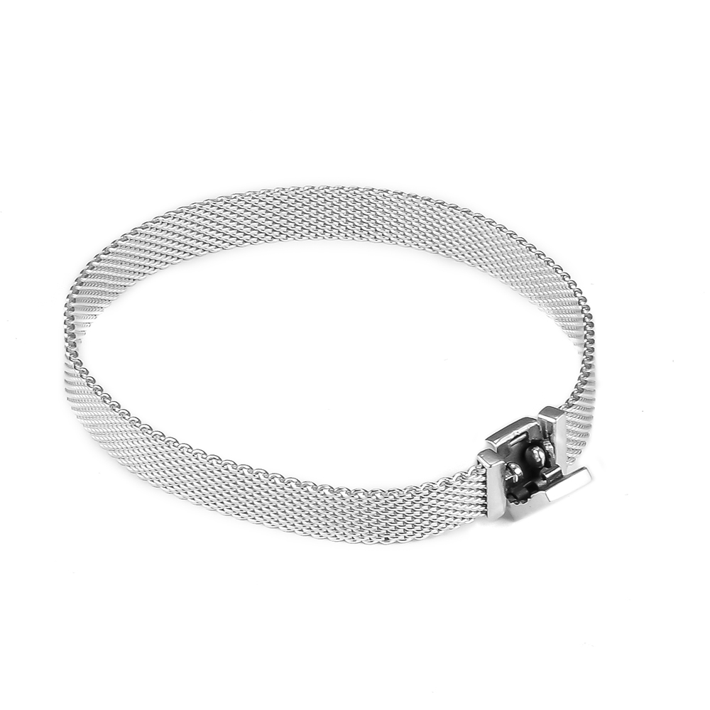 Reflexions Cuff Bracelet 100 925 Silver Popular Bracelets for Women Men Gift Fit Reflexions Clip Charms
