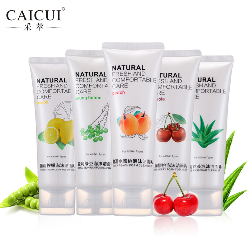Daily Garden Cleansing Foam 100ml 5 Type Cleanser Face Care Deep Skin Oil Control Moisturizing Facial
