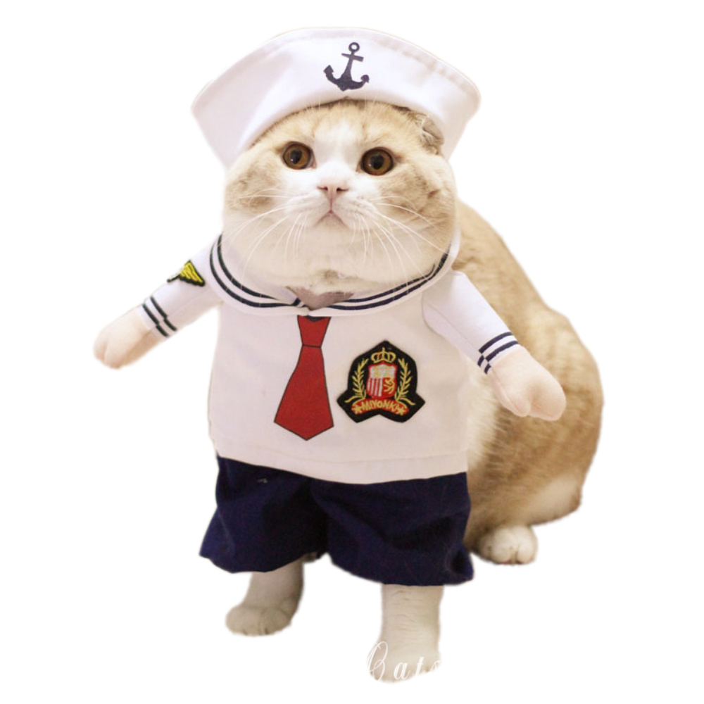 Cat/Dog Costume Suit Sailor Cosplay Clothes For Small Medium Cats Dogs Puppy Party Halloween Costume for a cat Present for pets