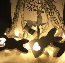 Светодиодный фонарь фестиваль кролик креативный моделирование лампа ins девушка сердце комната декоративная лампа