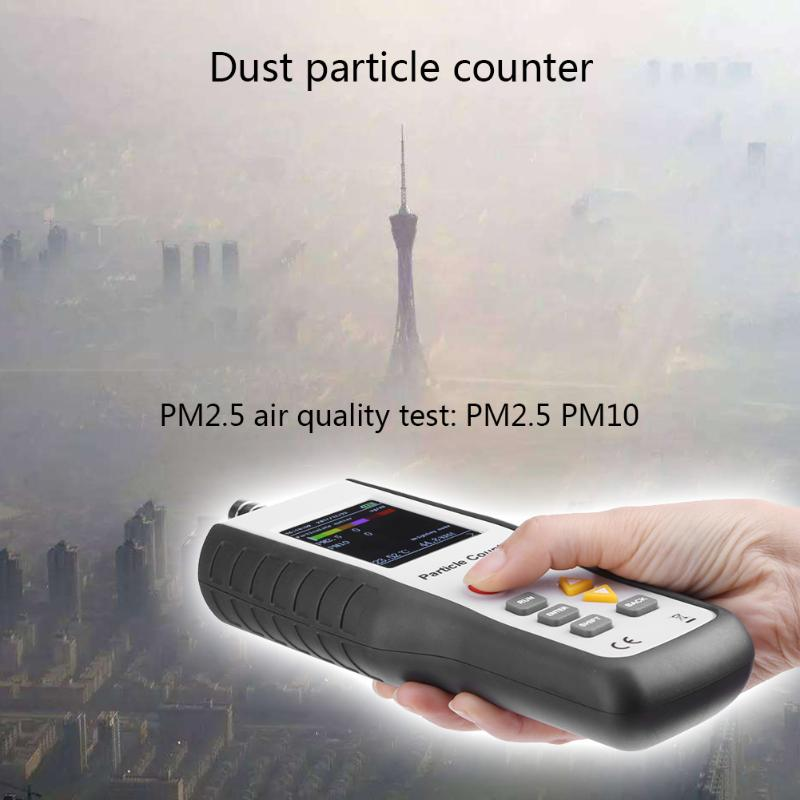 1ug Resolution Precise PM2.5 LCD Dispaly Air Particle Detector Professional Dust Air Quality Monitor Handheld Particle Counter new ht 9600 high sensitivity pm2 5 detector particle monitor professional dust air quality monitor handheld particle counter