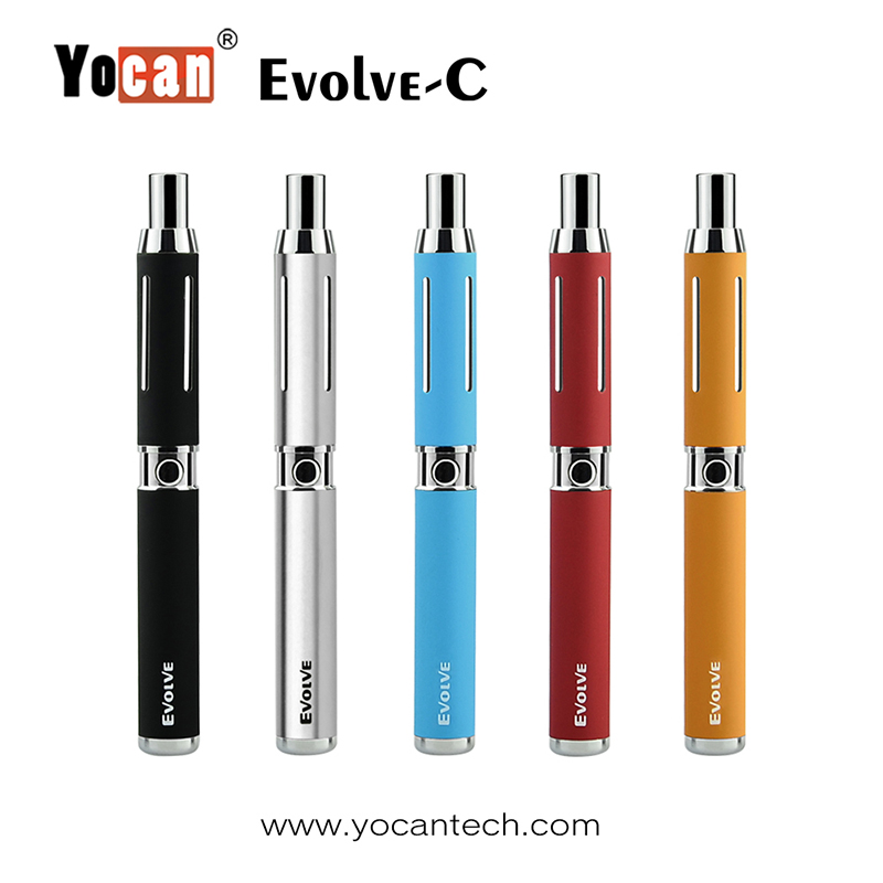 2pcs/lot Yocan Evolve-C Electronic Cigarette Kit Evolve C 2 Kind of Atomizer CBD Wax Pen O Pen For Wax & CBD Oil Vaporizer Tank
