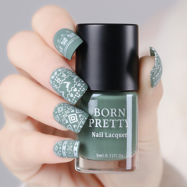 Born Pretty 1 Bottle 9ml Matte Dull Nail Polish Manicure Colorful Pink Gray Green Art