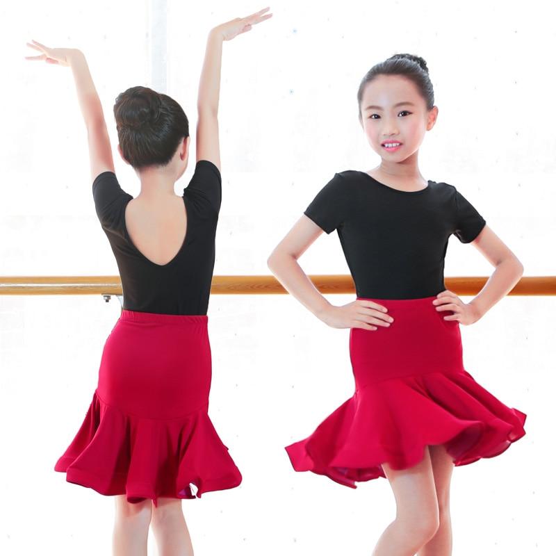 Songyuexia New Girls Salsa Tango Rumba Latin Training Dress Ballroom Dance Dresses Mermaid Skirt Children latin dancewear kid