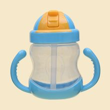 Eco-friendly Kids Drinking Cartoon Water Bottles 280ml BPA Free Plastic Straw Children Bottle Infant Kettle Portable Sports Cups(China)