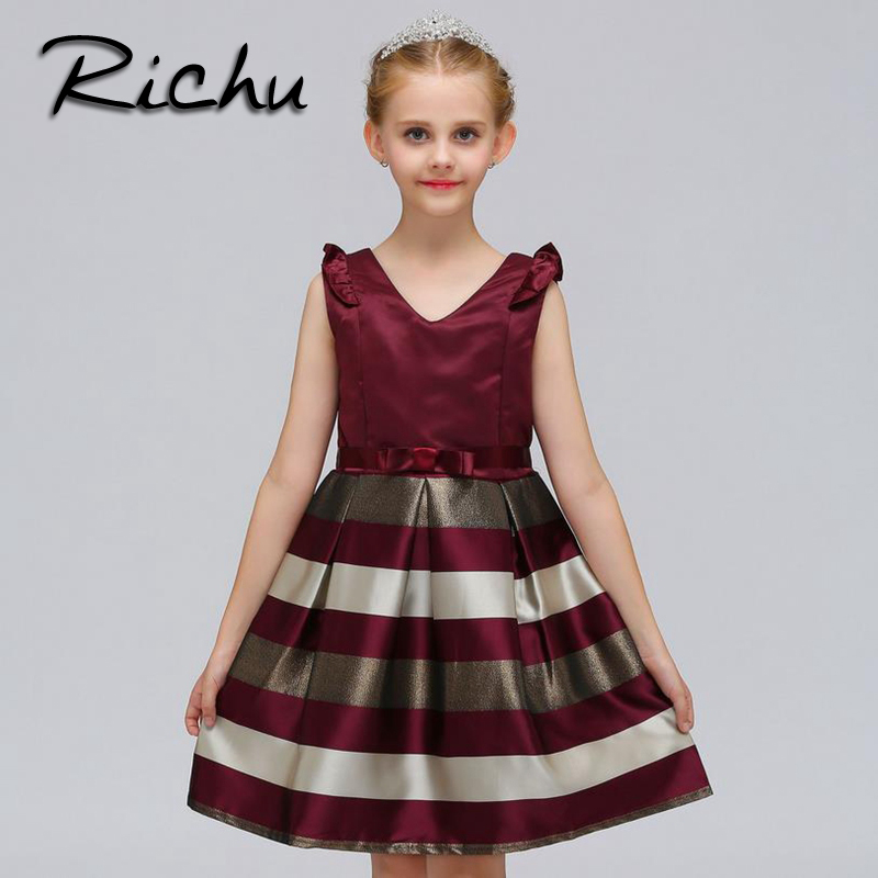 где купить Richu dress for girls 6 to 12 years girls dresses for party and wedding sleeveless princess dress girl costumes baby girl cloth по лучшей цене