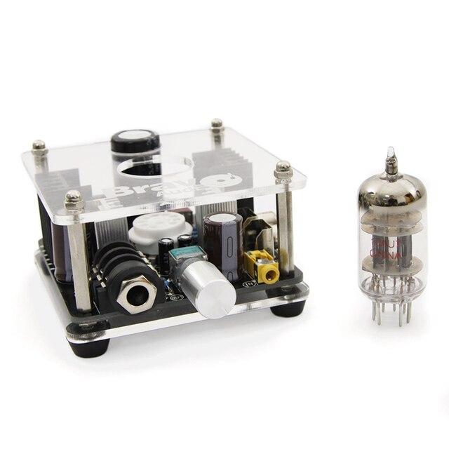 Оригинал Браво Аудио V2 Клапан Класса 12AU7 Multi-Hybrid Tube Усилитель Для Наушников с Стерео RCA/3.5 мм/6.35 мм Главная Мини amp