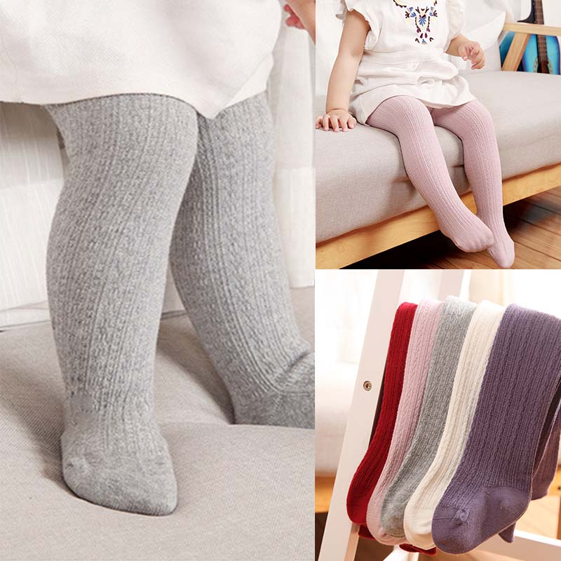 Newborn Baby Tights For Baby Girl Boy Stocking Solid Color Baby Girls Pantyhose Infant Baby Meisje Kids Children Stockings