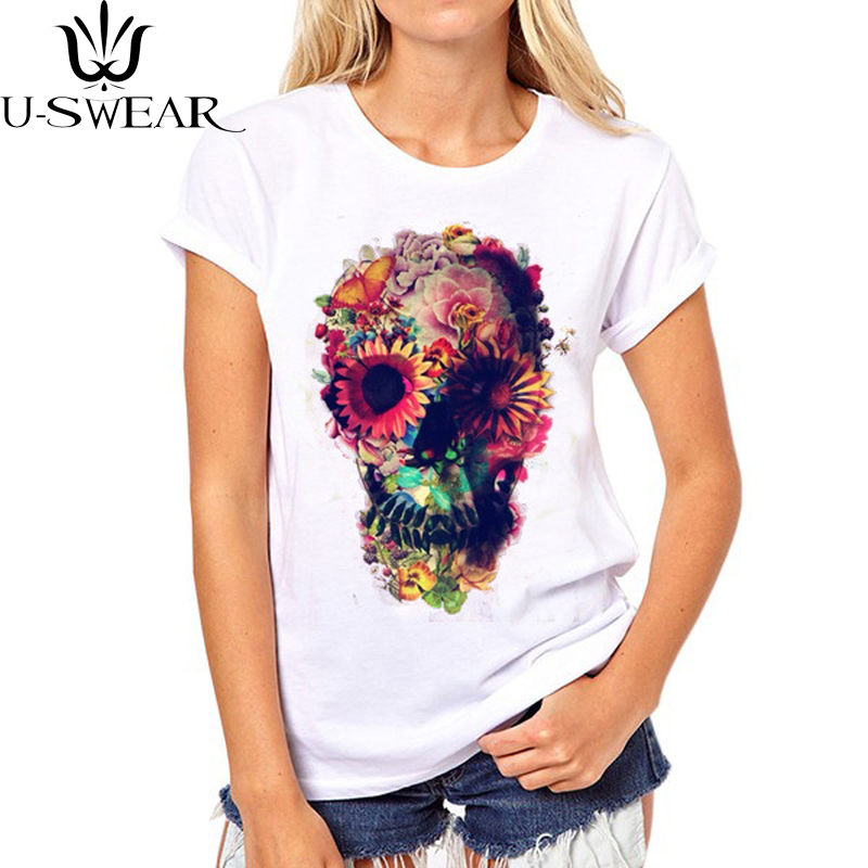 New Distorted Shantou Print T-shirt Women Sleeve Punk Loose Tee T shirt Fashion Cool Tops shirt Hipster Summer Female
