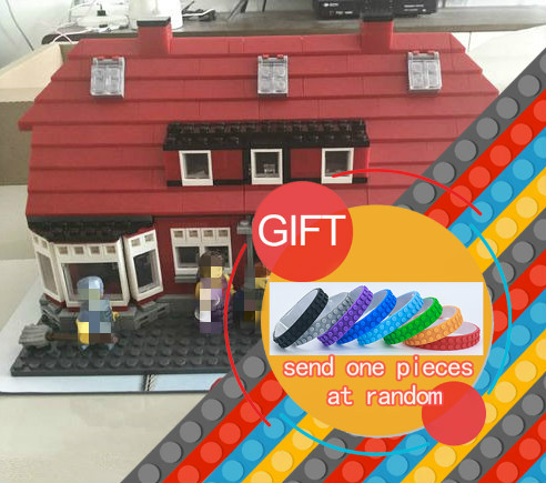 17006 928pcs classic Serier the Ole Kirk's House model Building Blocks Compatible 4000007 classic Architecture toys lepin lepin creator home 17006 928pcs the red house set model 4000007 building kits blocks bricks educational toys for children gifts