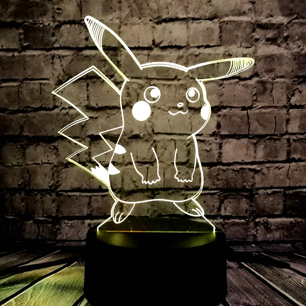 HOT SALE Japanese Cartoon Figure 3D LED USB Lamp Pokemon Go Game - Night Lights - Photo 3