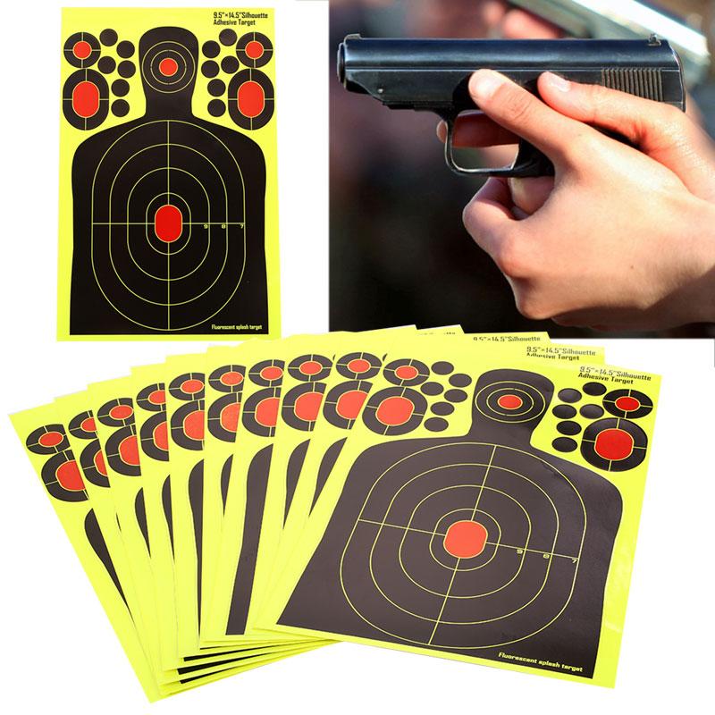 Shooting Target Yellow Economic Practice Hunting Bow Paper Rifle Hunter Shotgun