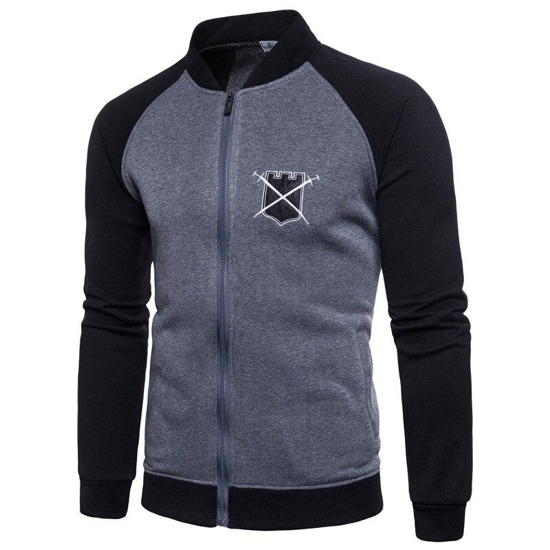 Bien la Universidad chaqueta de béisbol de los hombres de la primavera de 2019 de diseño de moda negro de manga Slim de los hombres de escuela grande chaqueta de uniforme de marca superior