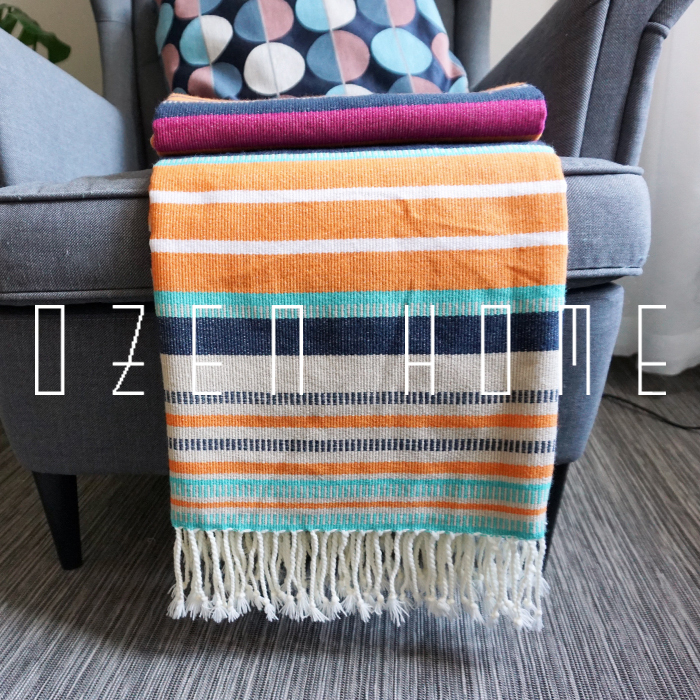 Mexican Knit Blanket Tassel Navajo Aztec Southwestern Diamond Thick Serape With StripesMexican Knit Blanket Tassel Navajo Aztec Southwestern Diamond Thick Serape With Stripes