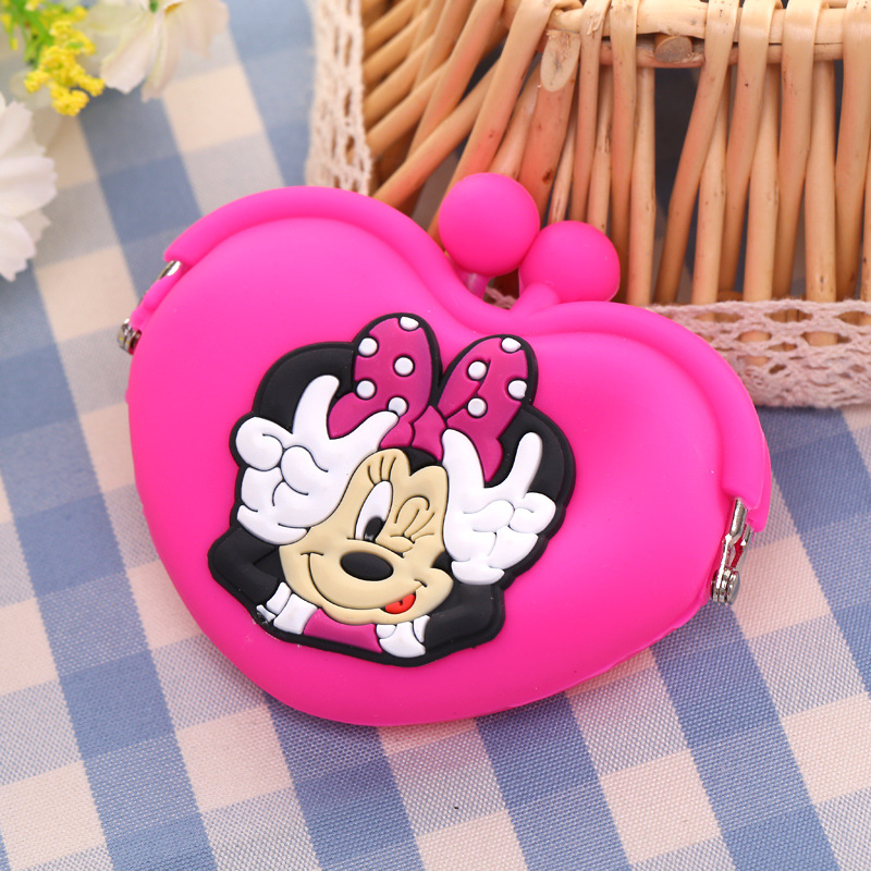 2019 New Mickey Cattoon Coin Purse Cat Cute Female Children's Wallet Bags For Girls Kid Gift