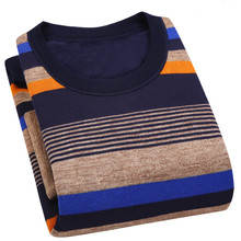 2017 New Autumn Winter Thick Warm Wool Sweaters Cashmere Sweater Men Casual O-Neck Pullover Men Cotton Pull Homme Plus Size 3XL