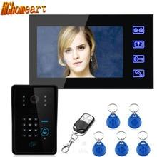 Hghomeart 7-дюймовый Цветной Код управления двери карты видна дверной Звонок беспроводной пульт дистанционного управления открытым lock HD Добро пожаловать Звонок