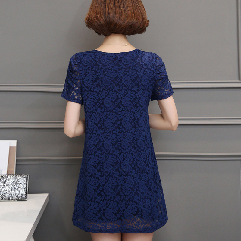 6xl tallas grandes mujeres clothing verano 2017 nueva moda corta Encajes de Ganc