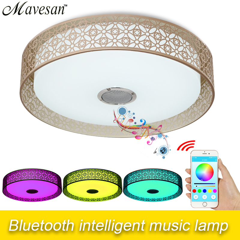 36W LED ceiling Light for party with Bluetooth & Music RGB Dimmable 90-260V modern Led ceiling lamp for 10 -15 Square meters стоимость