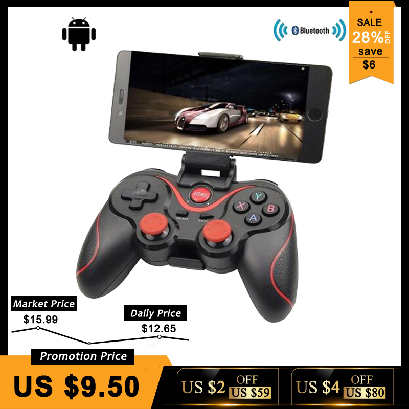T3 X3 Wireless Joystick Bluetooth 3,0 Gamepad Gaming Controller Gaming Fernbedienung für Tablet PC Android Smart handy