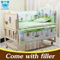 5 Pçs/set conjunto para a menina meninos da cama conjunto fundamento do bebê recém-nascido 100x58 cm bebê crib bumper berço set bebê bumper cama CP01
