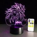 2016 New Dragon ball z super saiyan 3 goku action figures 3d table lamp 7 color changing figuras dragon ball z banpresto figures