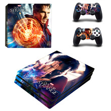 Doctor Strange Pattern PS4 pro Skin Sticker For Sony Playstation 4 Promotion Console & 2Pcs Controller Protection Film