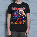 New Arrival Mens T-shirt S-XXL t shirt Iron Maiden Metal Rock Band Beast black tee shirt brand Knitted clothing 1705