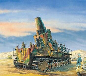 1: 144 niemieckiego Carl 60 Cm z własnym napędem, zaprawy wojskowy Model artylerii działa 00101