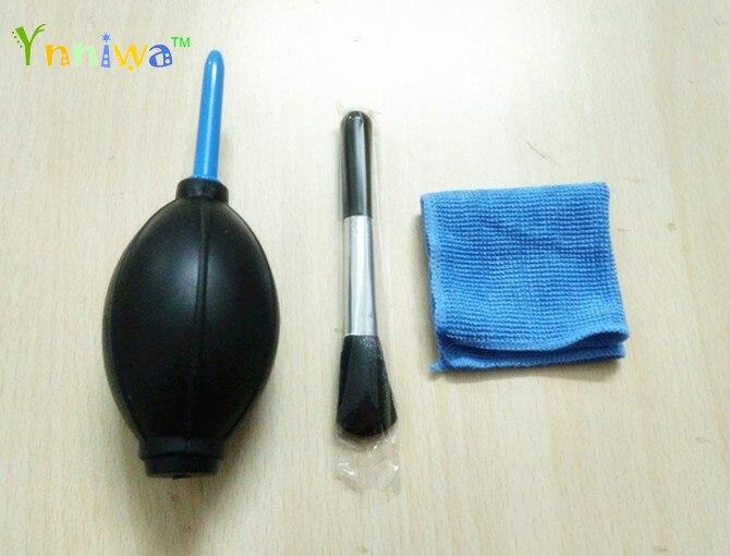 Kit de costume de compensation dobjectif de caméra 3 in1 set bursh de nettoyage + souffleur dair en tissu propre + chiffon propre